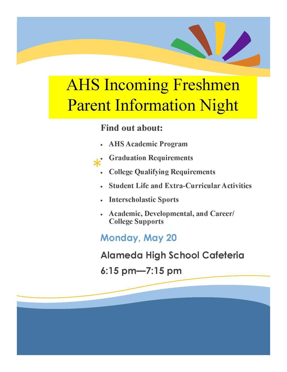 freshman info night