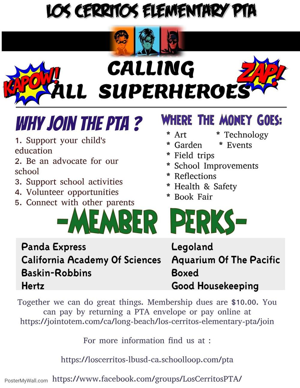 Calling all superheroes flyer