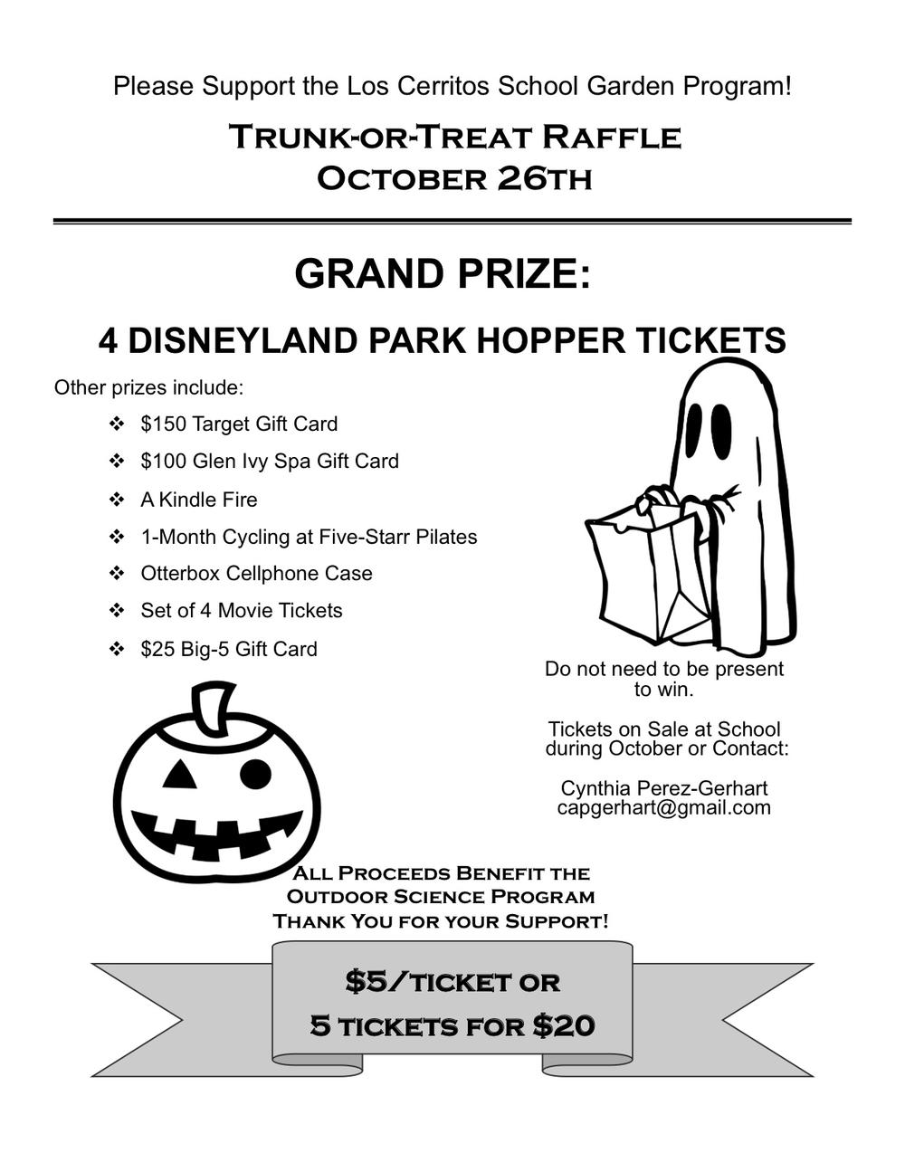 Trunk or treat raffle flyer