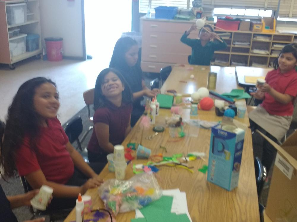 S.T.E.M Club doing a project