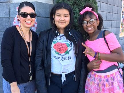 Students dressed for Decade Day