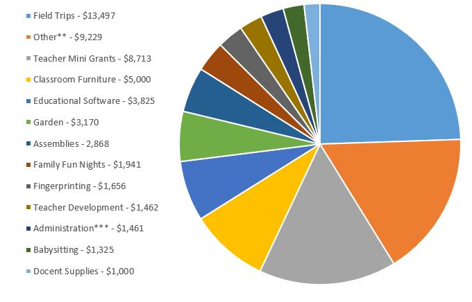pie chart expenses 2018-2019