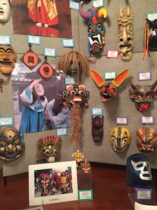 Connecting Cultures mask display