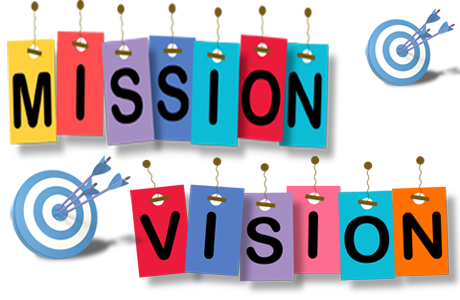 Mission Vision targets and bullseye arrows