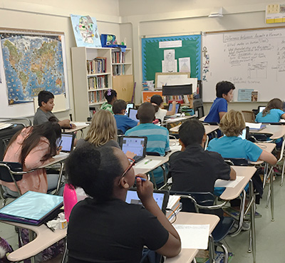 iPads in a classroom