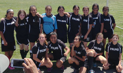 Girls Soccer Team, April 2015