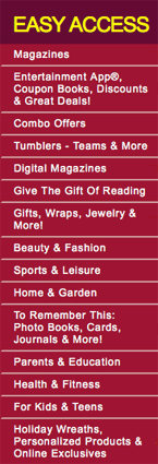 Magazine Drive shopping categories