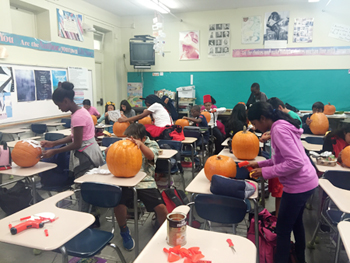pumpkin carving workshop