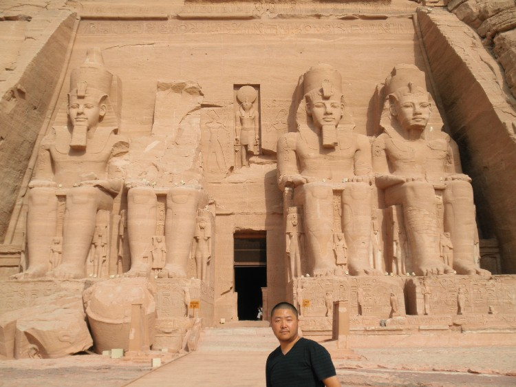 Mr. Kim at Abu Simbel in Egypt