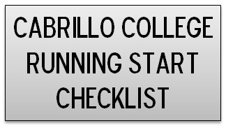 Cabrillo College Running Start Checklist