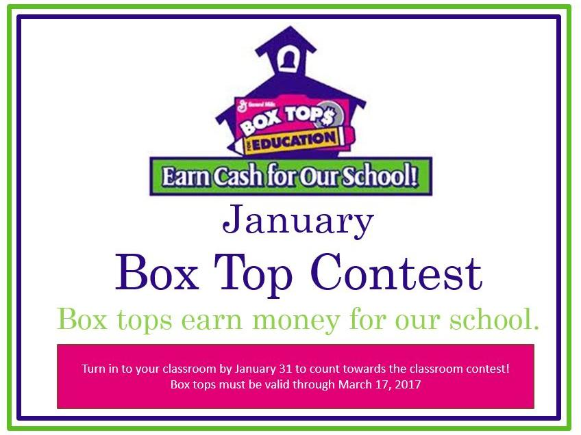 Box Top Contest in January