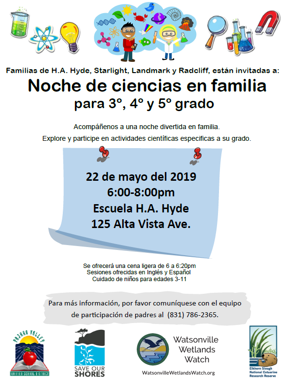 family science night flyer spanish