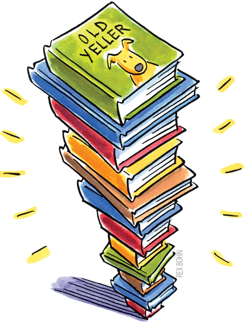 Stack of book graphic