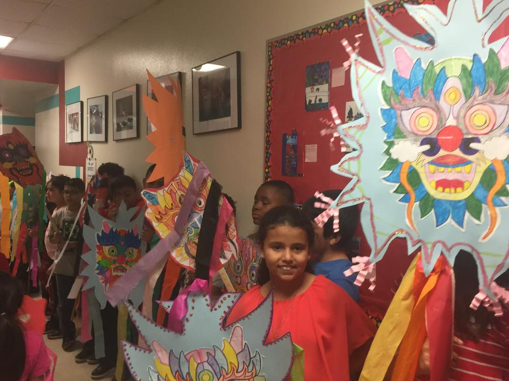 4th Grade ready to ring in the Chinese New Year