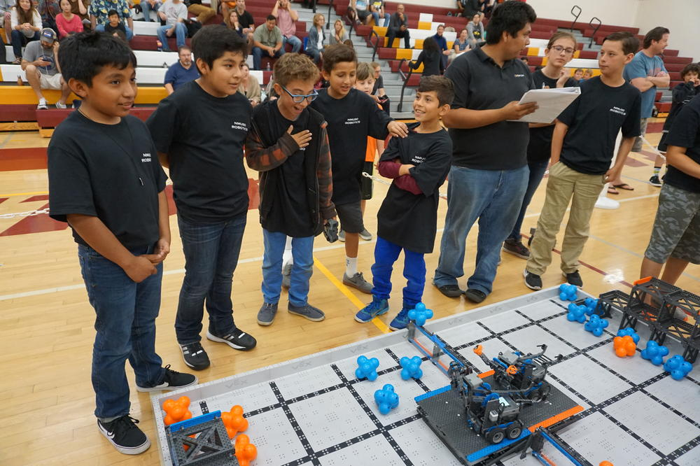 Students at Robotics Competition