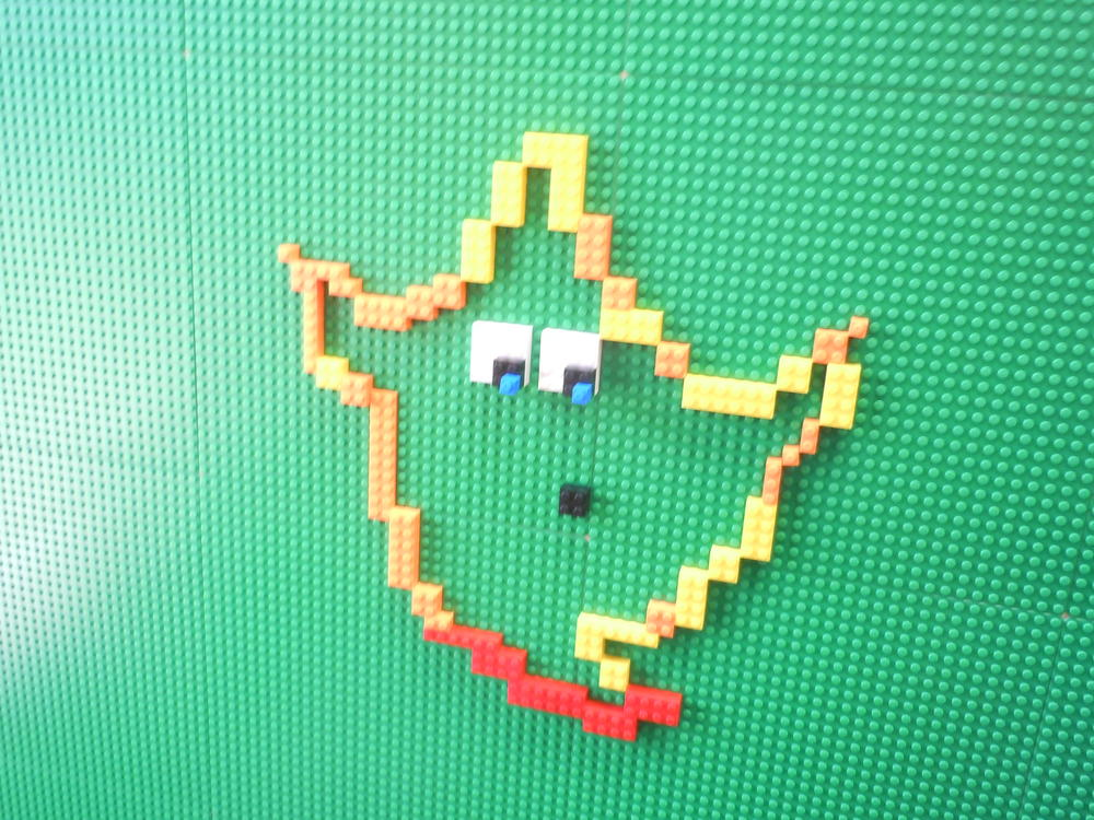Spooky Fall Leaf Created After Lego Board Challenge