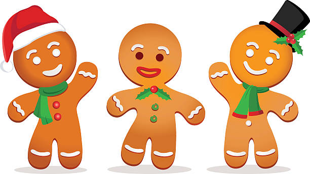 cartoon gingerbread men
