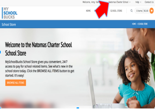 Verify you are in Natomas Charter account