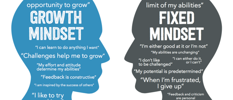 Growth Mindset and Fixed Mindset Graphics
