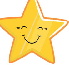 star with happy face
