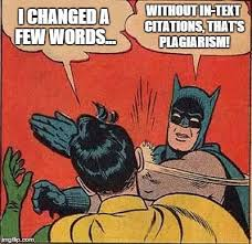 Batman and Robin plagiarism meme