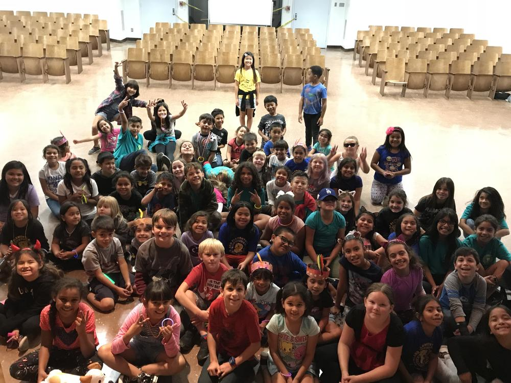 Woodcraft Rangers had their very own glow party! All students were given glow  sticks and had fun dancing together in the auditorium!