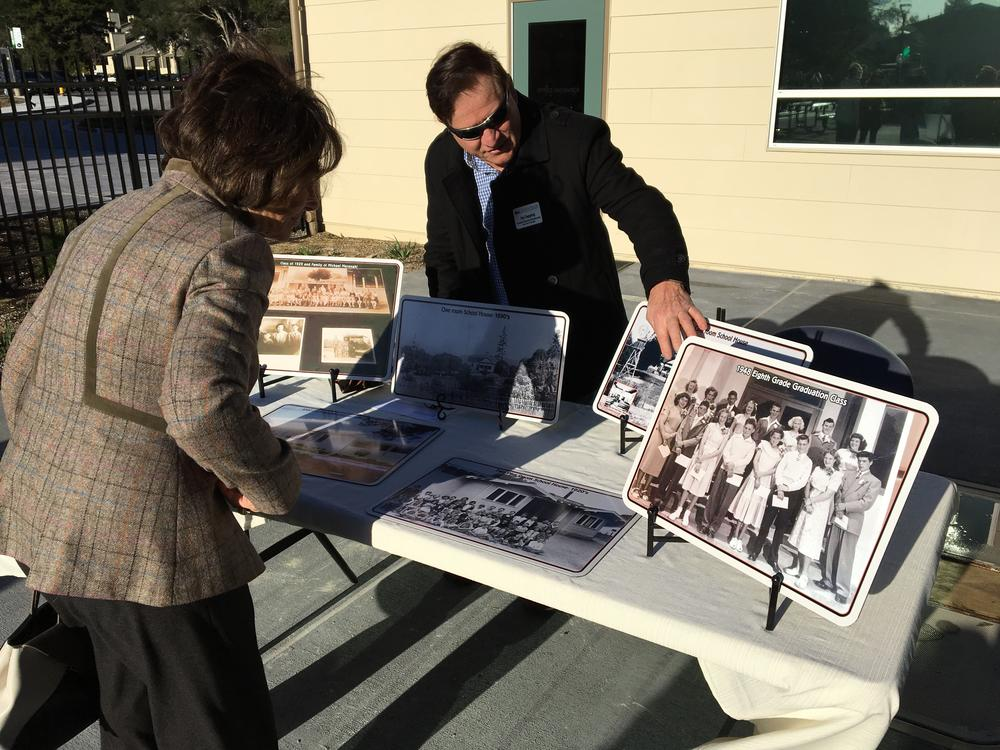 Congresswoman Eshoo at history table