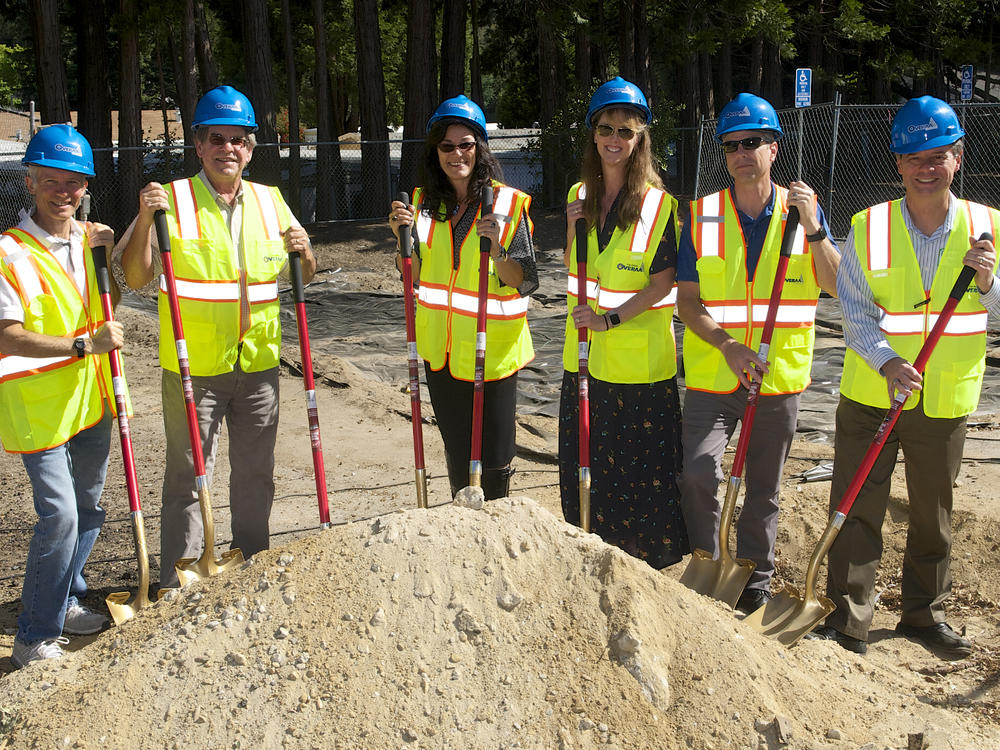 SVUSD Board with Principal Mary Lonhart and Superintendent Krause at SVMS  Groundbreaking