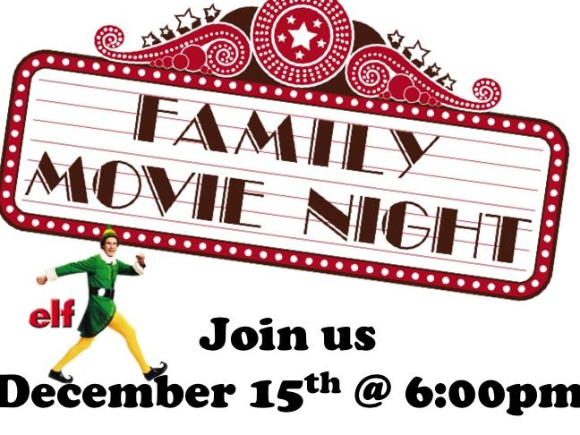 Family Movie Night December 15th at 6pm