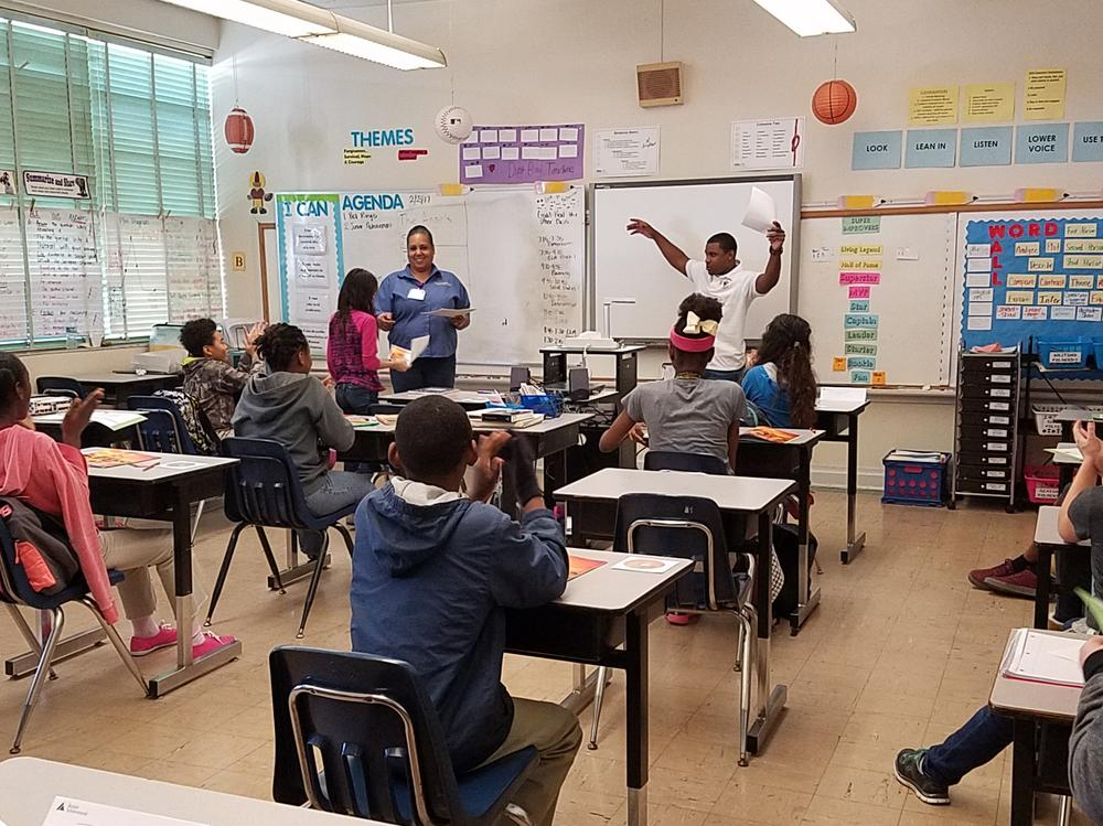 The Learning Bridge Career Institute s volunteers enjoyed teaching the students  about economics.