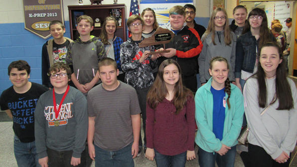 picture of middle school academic team