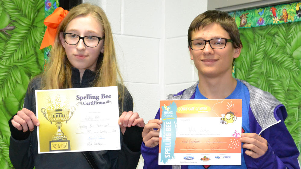 picture of the winners of the spelling bee