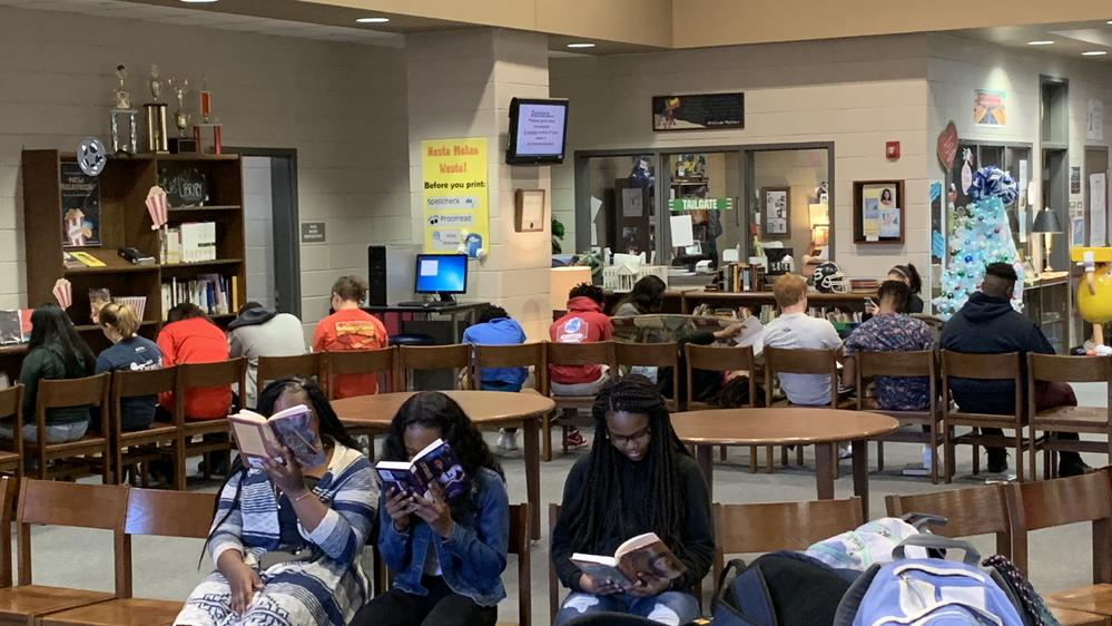 book tasting in the library