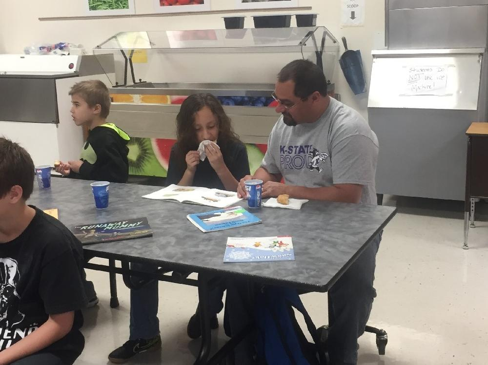 Several high school students also volunteered to come and spend time with the  elementary students.