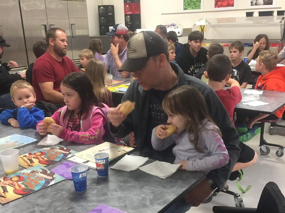 We d love to eat donuts with our dads again!
