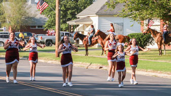 Cheerleaders in the South Haven parade.