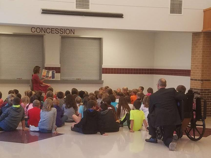 Thanks, KAKE and EMC for the Reading Caravan Award to Mrs. Mathews and our  school.