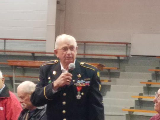 We had veterans from the Army, Navy, Air Force, and Marines present.