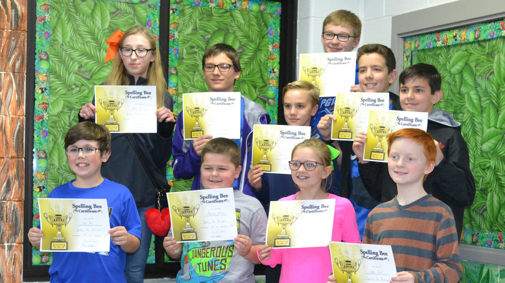 pictures of the participants of the spelling bee