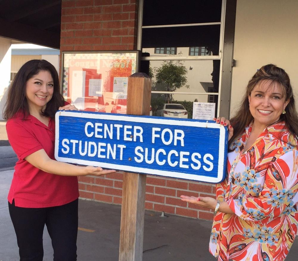 Center for student success sign