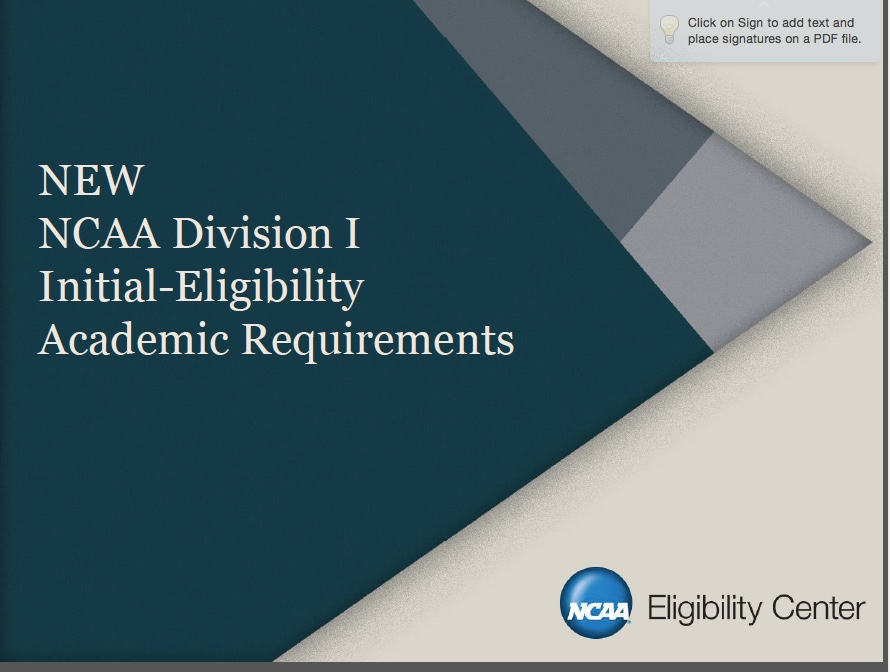 NCAA Division one  PDF