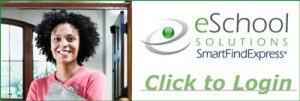 Sub Service Logo, smiling woman, green and black text