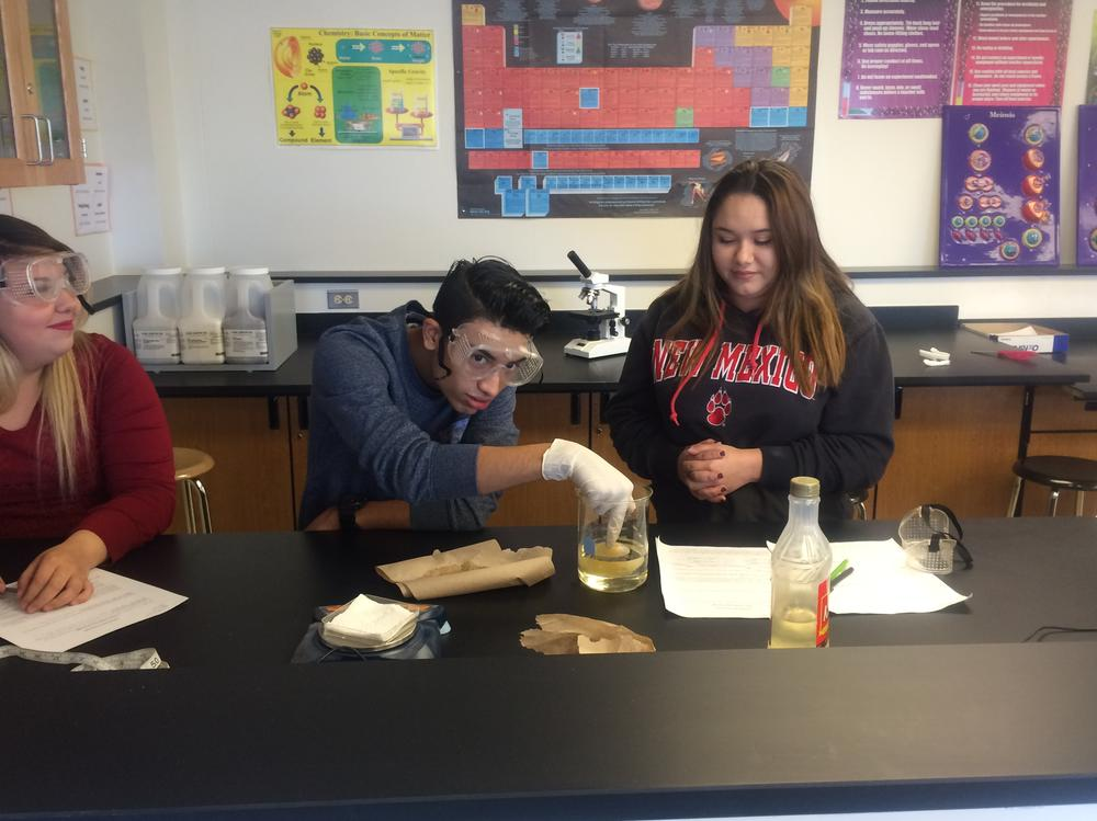 students in a science classroom