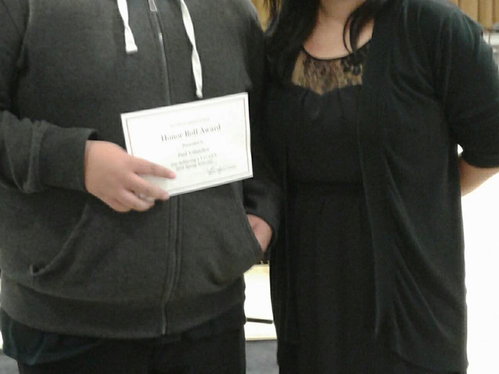 p 8th Grade Awards Ceremony with Ms. Kim, 8th Grade Counselor p