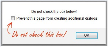 Do not check this box during enrolment