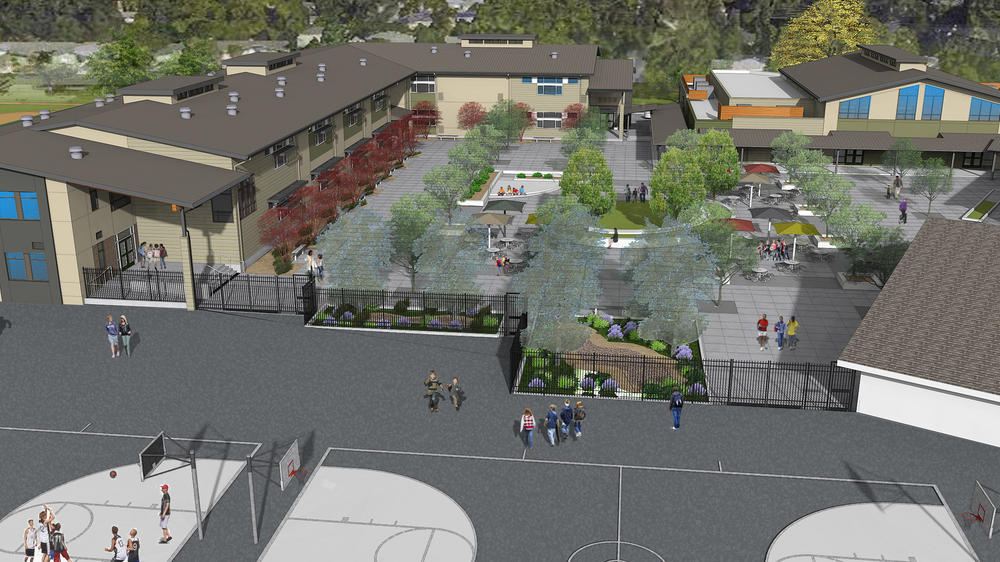 Stone Valley Middle School Modernization - a Measure D project rendering - HKIT  Architects 2017