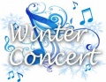 Winter concert musical notes