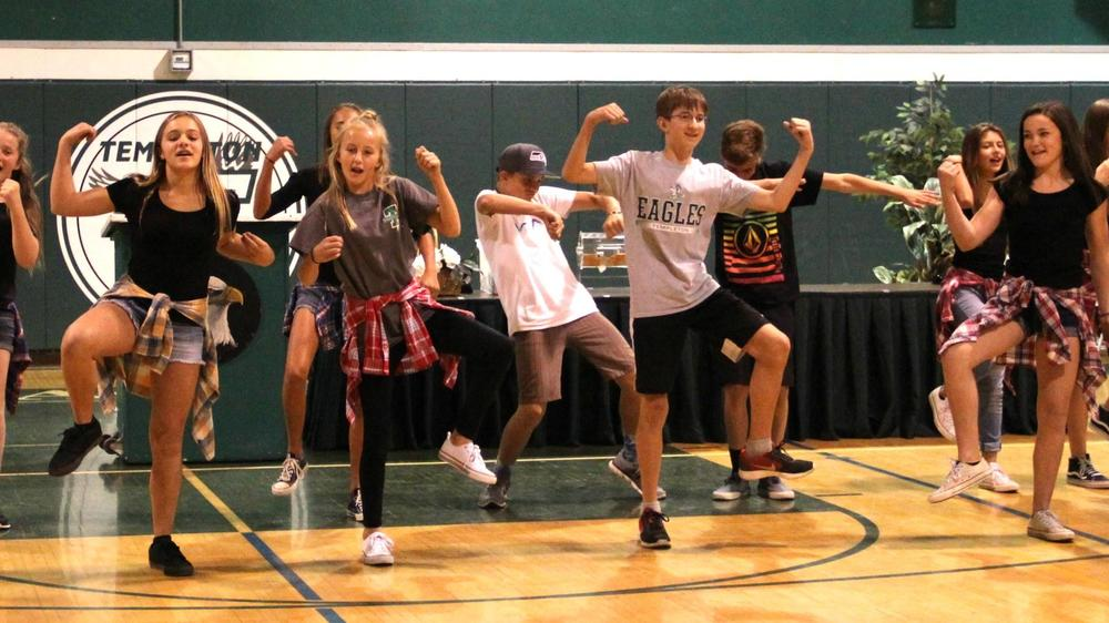 Renaissance Assembly Dance Off at TMS