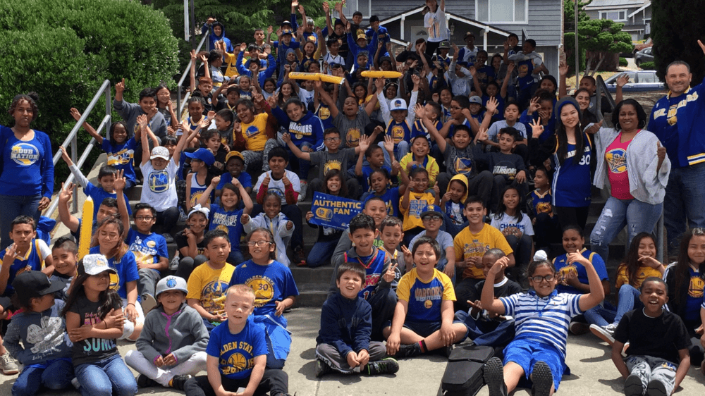 Treeview Students ready for Game 1 of NBA Championship. GO WARRIORS!!!