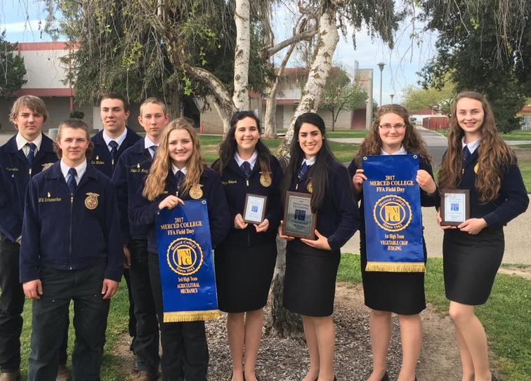 Veggies 1st place! Gabi Gonzalez 1st high individual and Abby Scanlan 3rd high  individual. Ag mech was 3rd placed. Farm Records 4th place with Cynthia  Villasenor 2nd high individual. Ag Pest Control took 5th place with Abby  Niebert 5th high individual. Plus the Forestry team placed 4th in Eureka. These  awards sure made the seven hour drive worth it!!!! Tim Brown